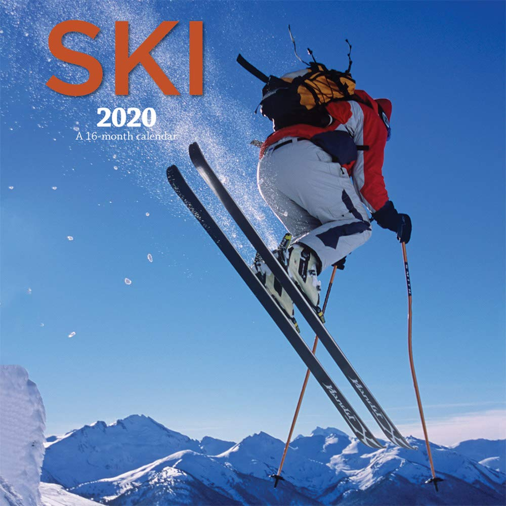 Ski 2020 Square Wall Calendar