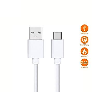 Cable de Carga rápida y Transferencia de Datos simultánea Compatible con Xiaomi Mi A1, A2, Mi6, Bulk (Tipo C)