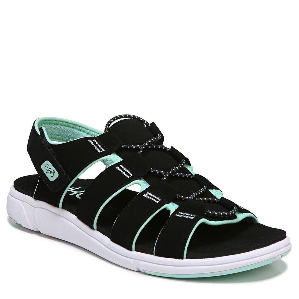 Ryka Mint Women's Misty Fisherman Sandal 6.5 W US|Black/Yucca Mint Ryka B077ZDPBK3 cd54ab