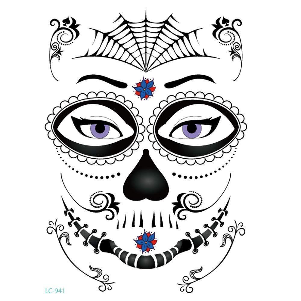 Heeecgoods Halloween Tatuajes de Estampado en Caliente Body Art ...
