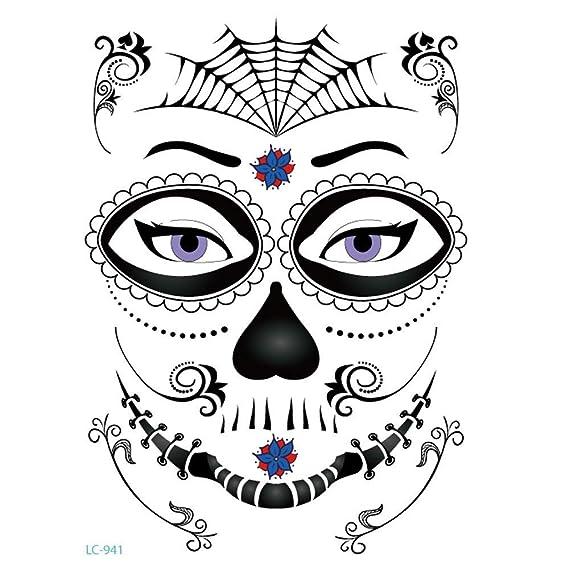 Qiusa Halloween Tatuajes de Estampado en Caliente Body Art Fake Dreamcatcher Tattoo Stickers Impermeable (Color : D): Amazon.es: Hogar