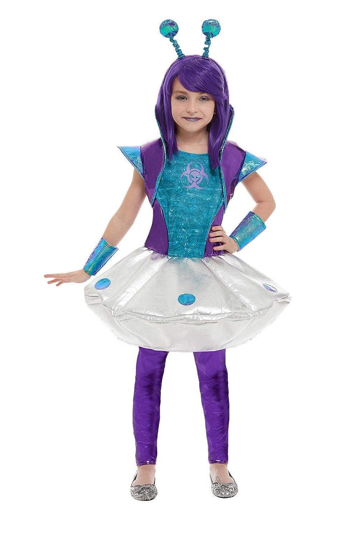 Smiffys 51042M - Disfraz de niña alienígena, talla M, color ...