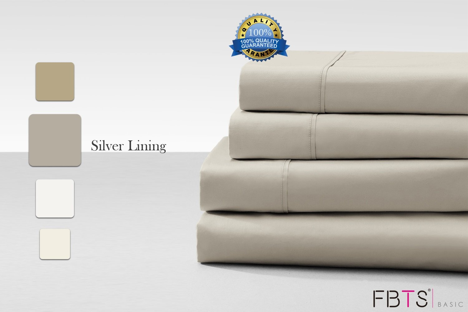 Cotton Rich Sheet Sets (California King, Grey) 800 Thread Count like Hotel Quality Luxury Bedding Sets with 18'' Deep Pockets 4 Piece Breathable Super Soft Bed Sheets by FBTS Basic