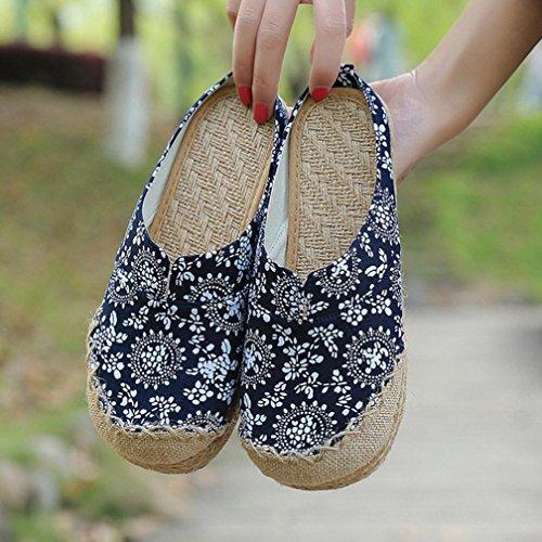 DM&Y 2017 Zapatos viejos del pa?o de Pek¨ªn hembra de lino nacional viento zapatillas Tailandia viento Baotou small suihua