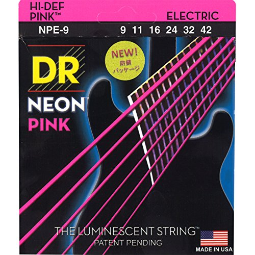 DR Strings NPE-9 Nickel Coated Electric Guitar Strings, Light by DR Strings
