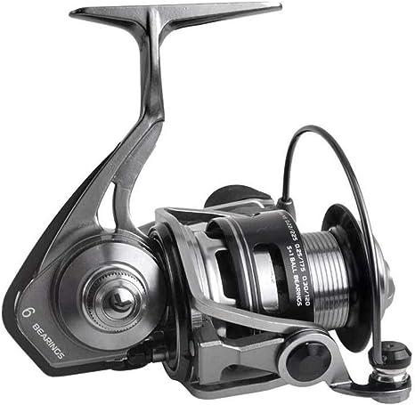 E-KIA Carrete de Pesca Carretes Spinning,Cuerpo de Metal Completo ...