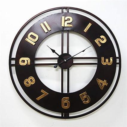 Europa Vintage Reloj de pared Decoración Moderno Breve Relojes de pared creativos Reloj moderno Metal Decoración