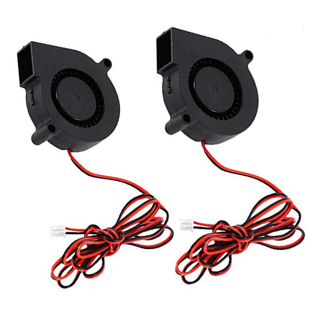 Aceirmc 2pcs 5015 3D Printer DC Brushless Blower Cooling Fan for RepRap i3 CR-10 and Other Small Appliances Series Repair Replacement (12V)