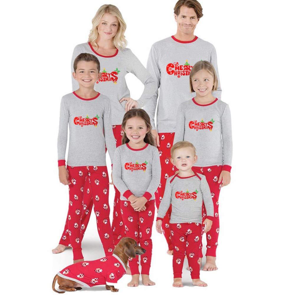 Pyjamas Women Men Kids Christmas Family Pajama Sets Santa Claus Printed Homewear Sleepwear