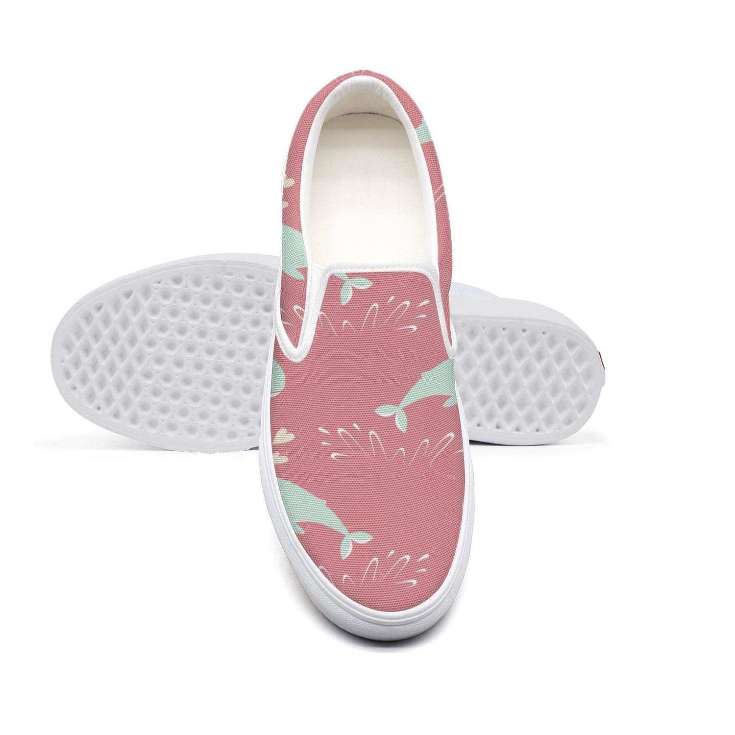 eredfs Whale Kid for Textile Womens Low Cut Solid Color Runners