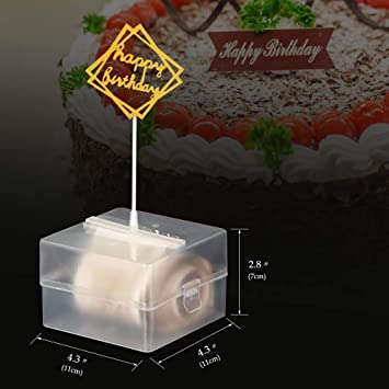 SODIAL Kuchenst?Nder Geschenkkuchenst?Nder Alles Gute zum Geburtstagstorte Geldautomat /üBerraschungskuchen /üBerraschungsst?Nder Spielzeugkuchenst?Nder 8 Zoll