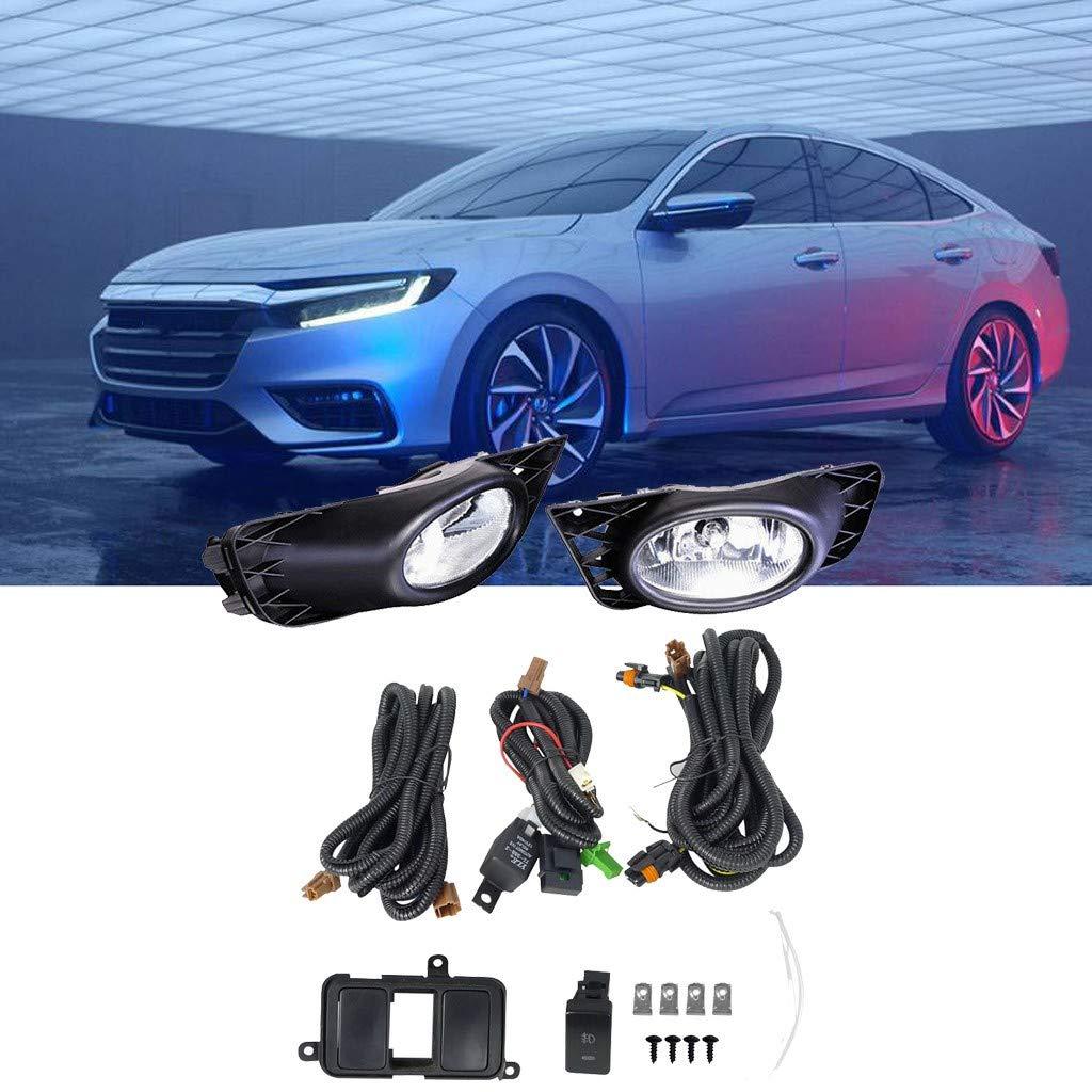 Arrowsy Clear JDM Driving Fog Lights + Switch Set for Honda Civic 4dr Sedan 2009-2011- US Stock by Arrowsy