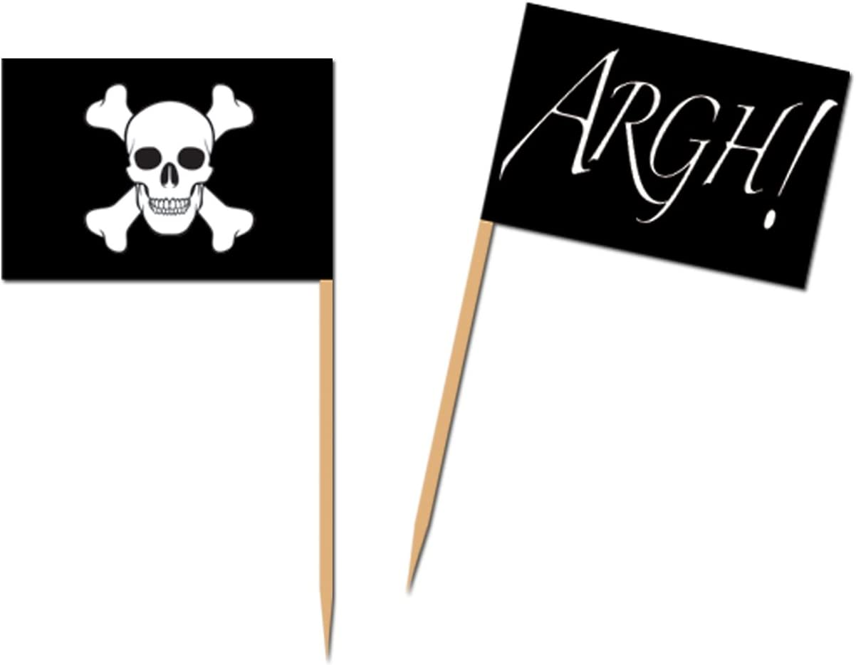 Pirate Flag Picks Party Accessory (1 count) (50/Pkg)