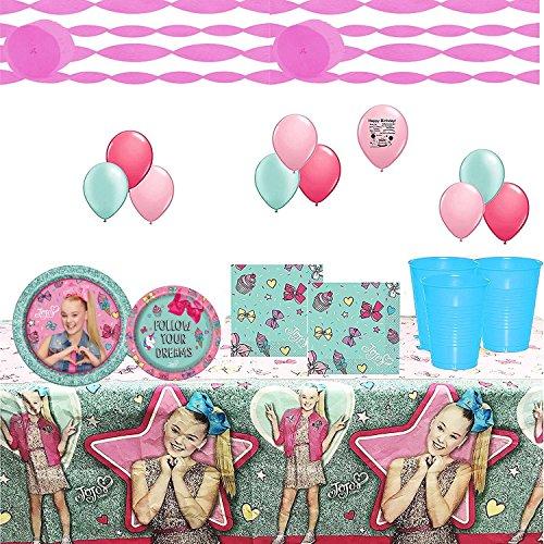 Jojo Siwa Birthday Party Tableware and Balloon Decoration Kit Buy