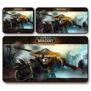 GW World of Warcraft gaming mouse pad wow panda super thick , 26 * 21 * 0.3 cm