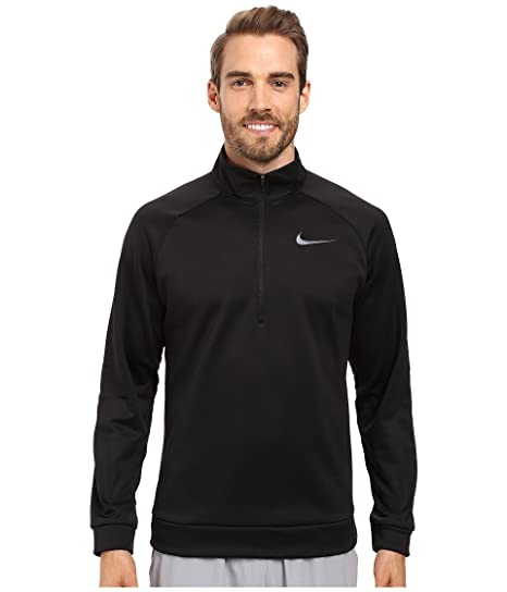 1a4b633616e8 Image Unavailable. Image not available for. Color  Nike Therma 1 4 Zip  Pullover Black Dark Grey Men s Clothing
