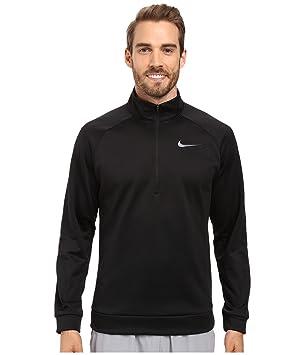 e1359c4e6afb Nike Therma 1 4 Zip Pullover Black Dark Grey Men s Clothing  Amazon.co.uk   Sports   Outdoors