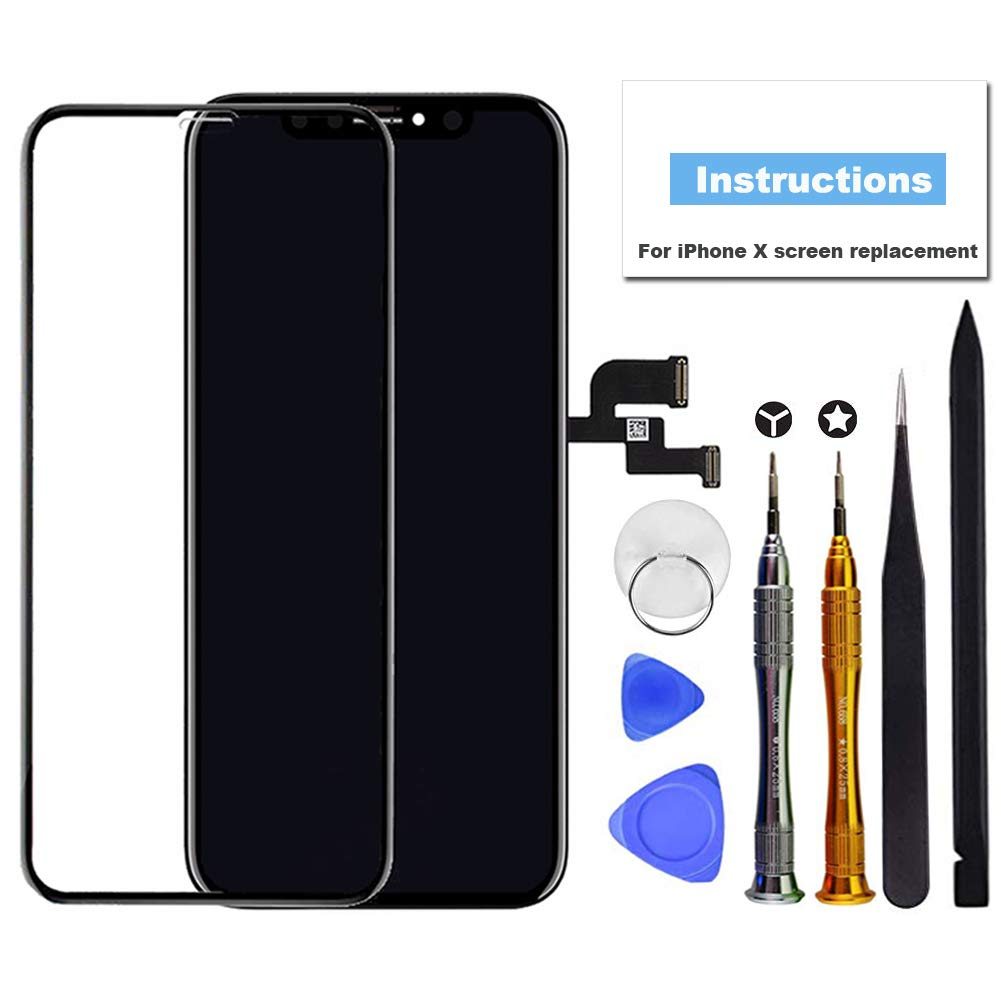 brand new b37e2 90c4f for iPhone X Screen Replacement OLED 5.8 inch [NOT LCD] Touch Screen  Display Digitizer Repair Kit Assembly with Complete Repair Tools and Screen  ...
