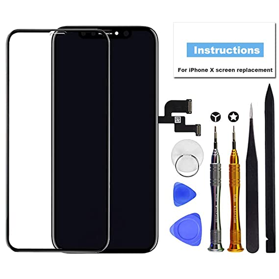 brand new 06df0 d2652 for iPhone X Screen Replacement OLED 5.8 inch [NOT LCD] Touch Screen  Display Digitizer Repair Kit Assembly with Complete Repair Tools and Screen  ...