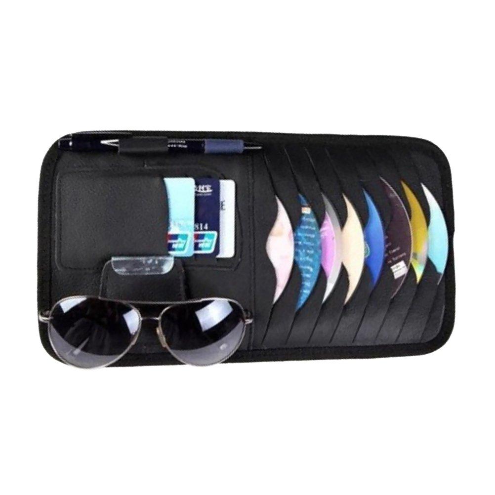 WINOMO Organizzatore CD Carta di credito Occhiali portaoggetto per aletta parasole di auto in Nero per Regalo di Festa del papà LF01458E3Y720LWI6GZRCZC