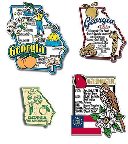 Georgia 4 Piece - Georgia Four-Piece State Magnet Set