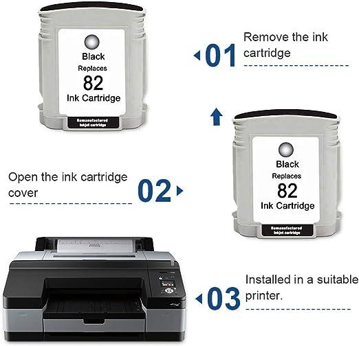 SMARTOMI Remanufacturado 82 Compatibles con HP 82 Cartucho de Tinta para Printer Designjet 510 Series 4 Cartuchos: Amazon.es: Oficina y papelería