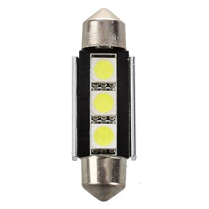 TOOGOO (R) 2 x SMD LED Feston 39 mm Canbus C5 W 12 V 3 puissance-indicateur SMD- & lámpara de lectura