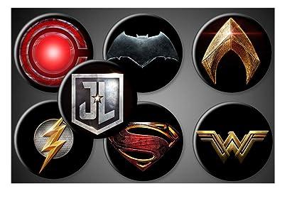 Amazon Com Justice League Magnets Or Pins Dc Comics Superhero