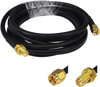 Bajo Pérdida Antena Wifi Cable 2 m SMA macho a SMA hembra RG58 Coaxial 50 Ohm para 3 G 4 G LTE jamón ADS-B GPS RF Radio uso