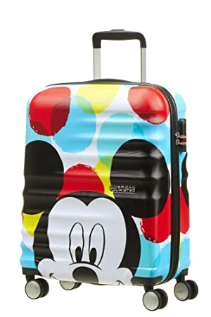 American Tourister Disney Wavebreaker - Spinner 55/20 Bagage cabine, 55 cm, 36 liters, Multicolore (Minnie Loves Mickey)