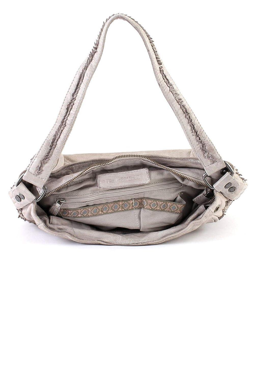FREDsBRUDER Sprig axelväska läder 30 cm Grey Marble