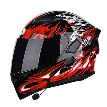 M-TK Cascos de Bluetooth para Motocicleta Modular Dot Flip ...