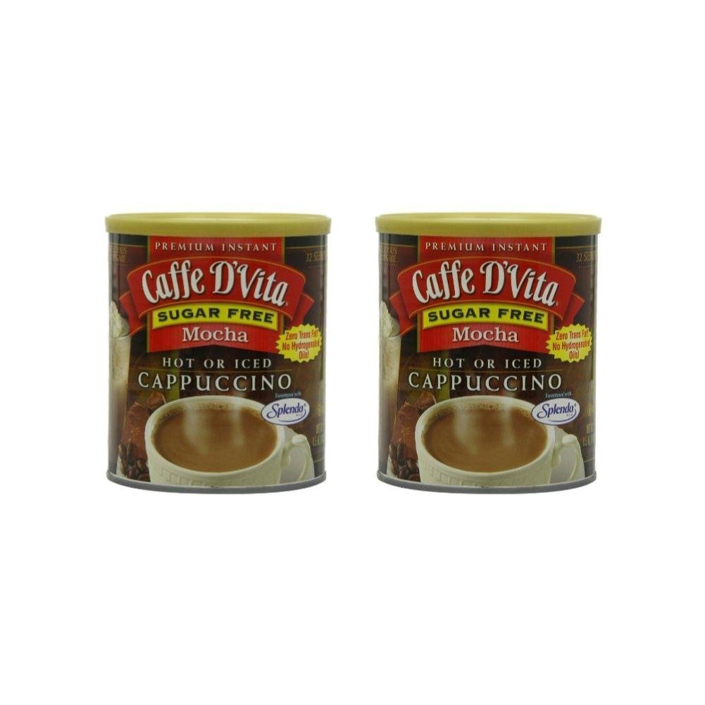 Caffe D'Vita Sugar Free Mocha Instant Cappuccino, 8.5-Ounce Canister (Pack of 2) by Caffe D'Vita