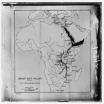 Amazoncom Photo Map Of Africa Showing The Great Rift Valley - Africa map great rift valley