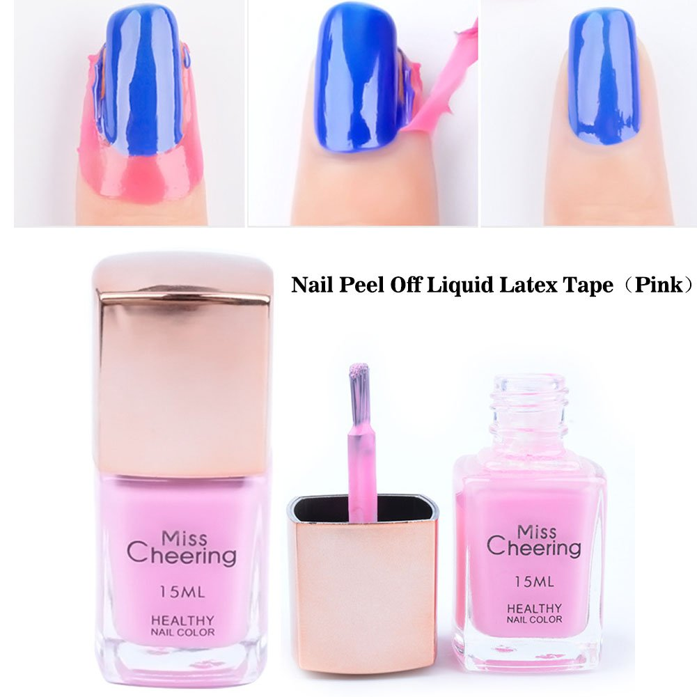 Amazon.com : Lookathot Nail Peel Off Liquid Latex Tape Anti-overflow ...
