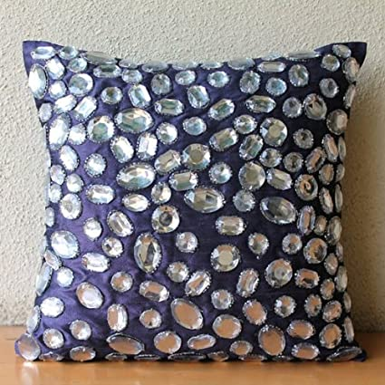 Amazon Purple Throw Pillows Cover For Couch Rhinestones And Classy Rhinestone Decorative Pillows