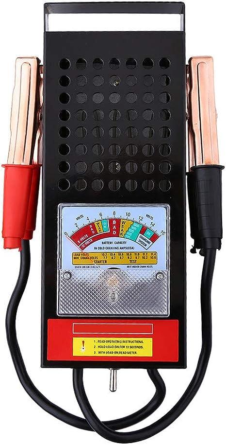 Schwarz Batterietester Batterieprüfer Auto Kfz Batterie Akku Testgerät 100a Baumarkt