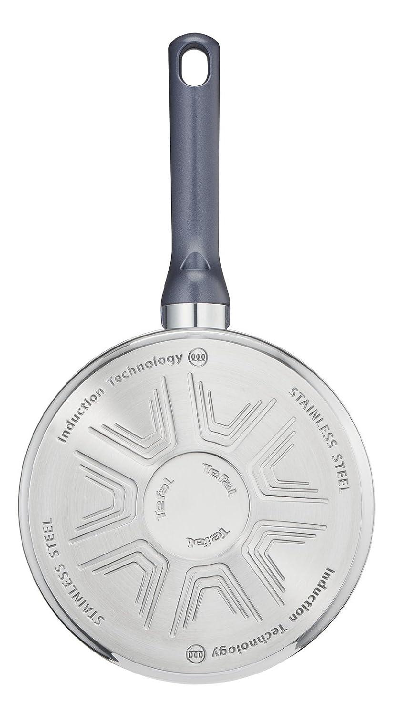 Tefal Daily Cook - Cazo de acero inoxidable de 18 cm, 1.5 Litros, base reforzada, aptas para todo tipo de cocinas incluido inducción, gran ...