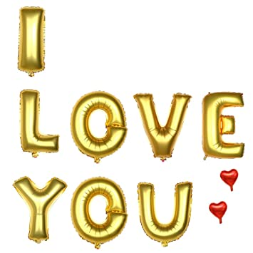 16 inches gold balloons banner set aluminum foil letter balloons for wedding bridal shower bachelorette party