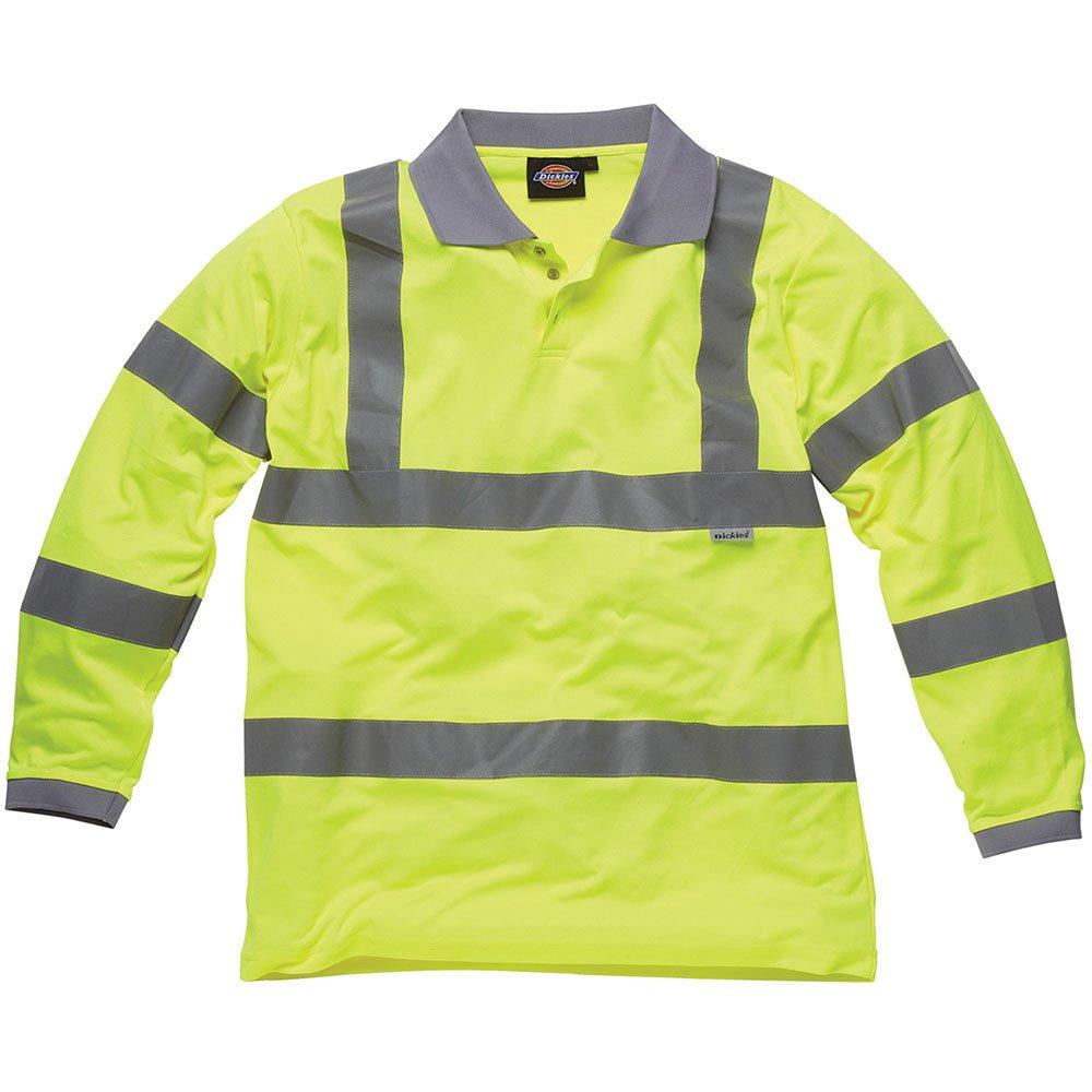 Dickies Hochsichtbare Polo-Shirts - Langarm gelb YL XXL, SA22077 SA22077 YL XXL