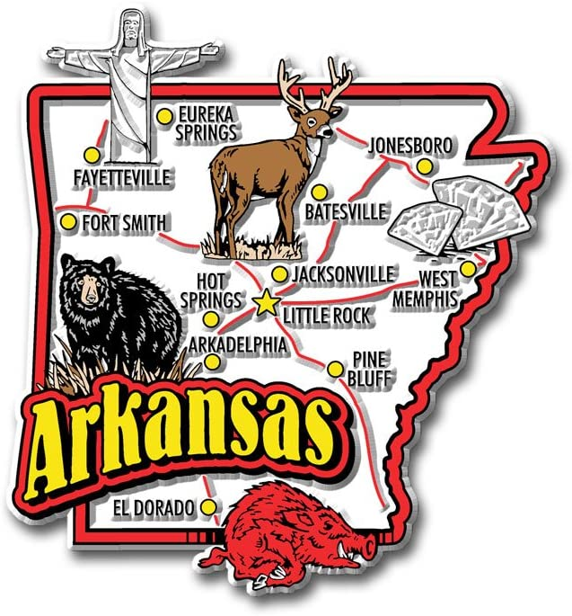 Arkansas State Jumbo Map Magnet