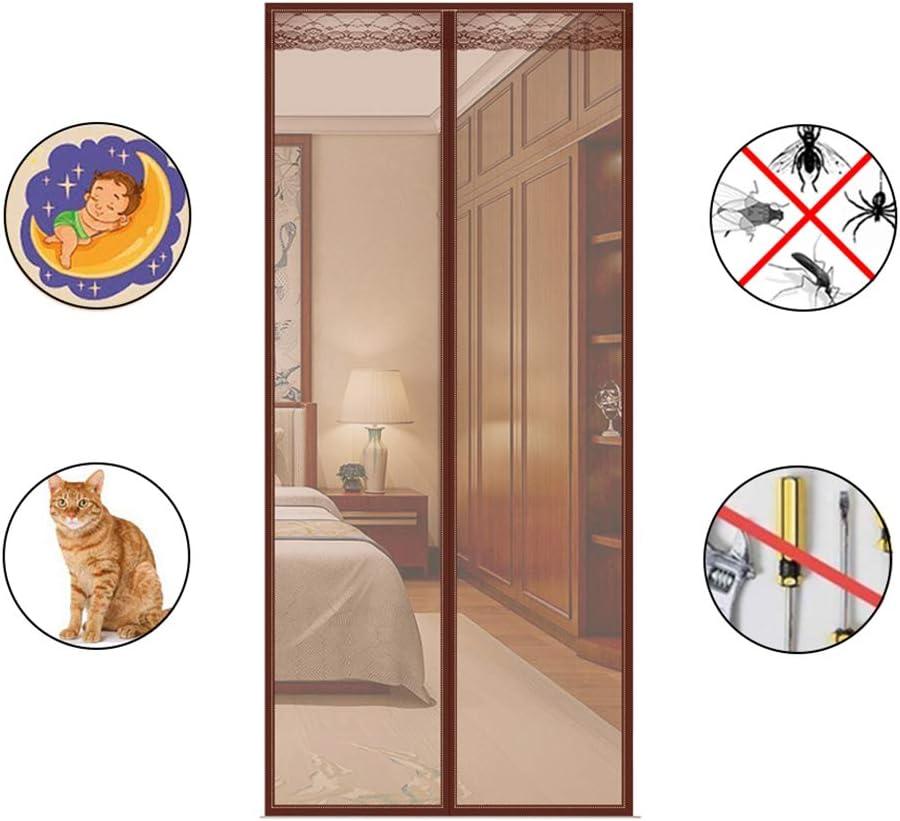 WMWJDQ Mosquitera para Puerta Protección contra Insectos Magnético,Cierre Automático,Buena Ventilación,para Puertas Correderas,Balcones,Terraza,A,150x220cm: Amazon.es: Hogar