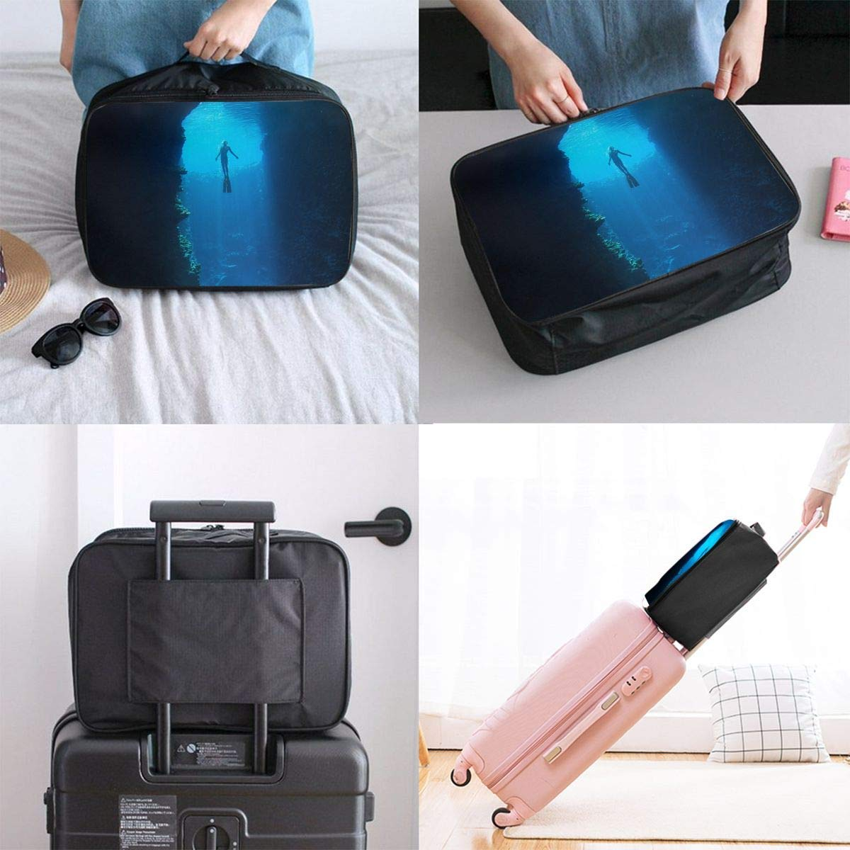 Lightweight Large Capacity Portable Duffel Bag for Men /& Women Free Diving Travel Duffel Bag Backpack JTRVW Luggage Bags for Travel