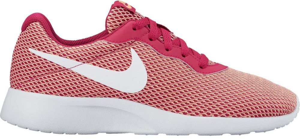 NIKE Women's Tanjun Running Shoes B01K0N1LF4 5.5 B - Medium|Fuchsia/White-sunset Glow