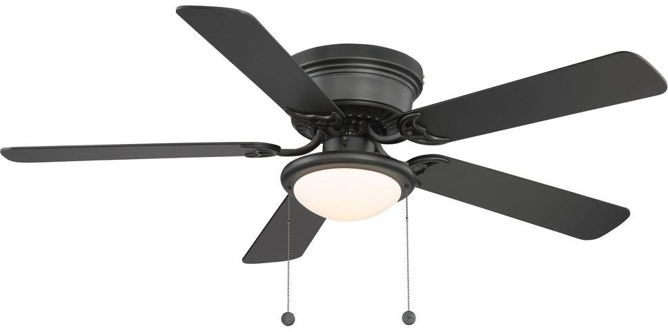 Hugger 52 in. Black Ceiling Fan - AL383-BK - The Home Depot