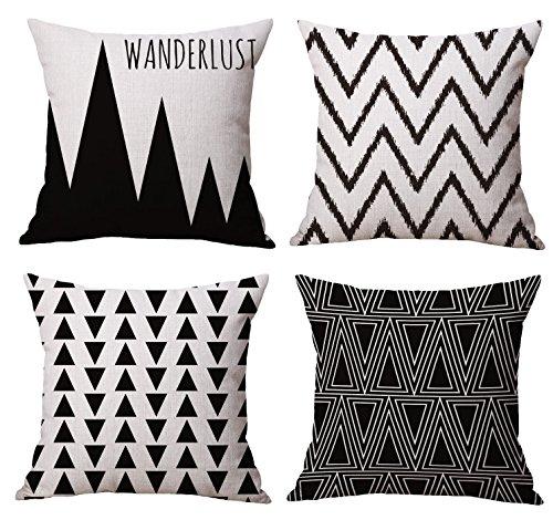 Modern Simple Geometric Style Decorative Cotton Linen Blend
