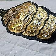 Maxan New AEW Championship Belt Replica, 4 Layer, 4mm in zinc Plate, Cow Leather