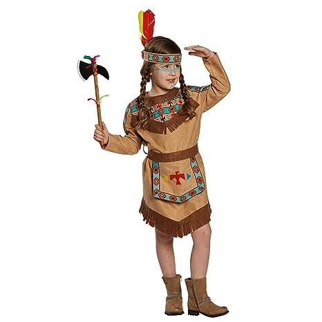 Rubies Disfraz de Niños Indio Chica Indio Vestido Marrón Niños ...