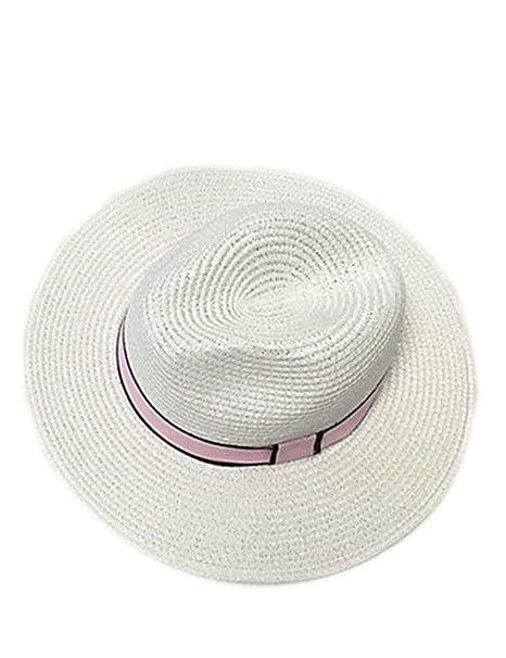 Comfot Mujer Verano Otoño Bonito Casual Hilo Sombrero Playero Sombrero de Paja  Sombrero para el Sol 97d85f74abb