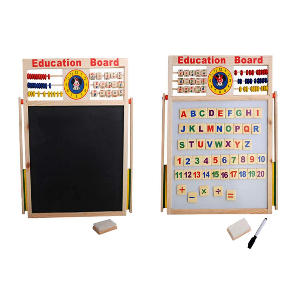 Aland-Abacus Wooden Letters Numbers Blackboard Magnetic Board Kids Educational Toys by Aland (Image #2)